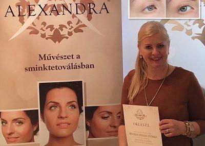 Alexandra, púderes szemöldöktetoválás - 2016 ápr