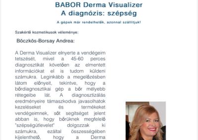 Online megjelenés kozmetikusoknak, szakértöként a bőrdiagnosztikai kameráról - 2016 máj
